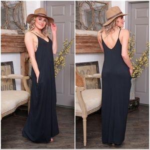 ❤️Black Cami Maxi Dress